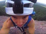 JJ Yosh climbing up Flat Irons in Boulder Colorado