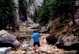 JJ Yosh hiking in Dream Canyon Boulder Colorado