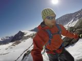 JJ Yosh snow shoeing up Grays Peak in Colorado