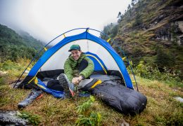 Nepalese Camping in the Himalayas